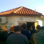 παρέμβαση διαμαρτυρίας των εργαζόμενων στην «κοινωφελή» εργασία στο Καματερό